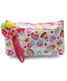 The Eed Strawberry & Cake Print Baby Purse - Multicolour