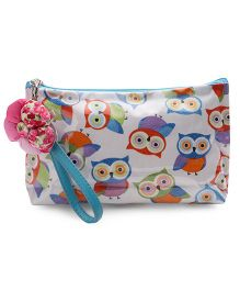 The Eed Owl Print Baby Purse - White