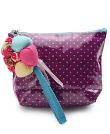 The Eed Polka Dot Print Baby Purse - Purple