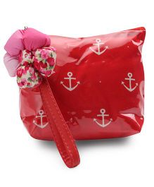 The Eed Anchor Print Baby Purse - Red