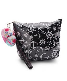 The Eed Anchor Wheel Print Baby Purse - Black