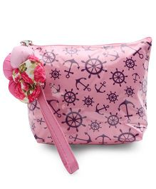 The Eed Anchor Wheel Print Baby Purse - Pink