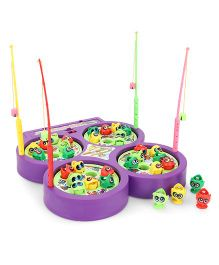 Smiles Creation Fish Catching Game Toy - Purple