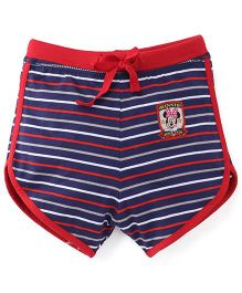 Bodycare Stripe Shorts Minnie Mouse Patch - Red Navy Blue