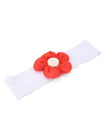 De Berry Attractive Flower Headband - Red & White