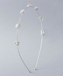Flaunt Chic Queen Hair Band - Silver