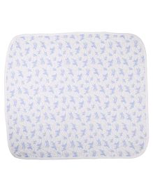 Needybee Bear Printed Blanket - Blue