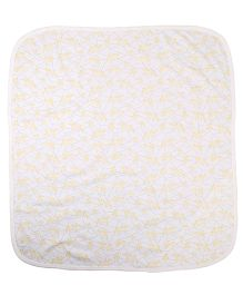 Needybee Bear Printed Blanket - Yellow