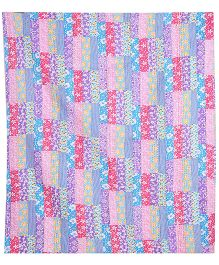 Needybee Reversible Handmade Patchwork Quilt - Blue