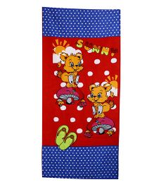Sassoon Dotted Towel Animal Design  - Multicolour
