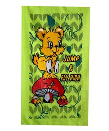 Sassoon Towel Animal Design - Green Yellow Red