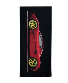 Sassoon Towel Car Design - Red Black Yellow