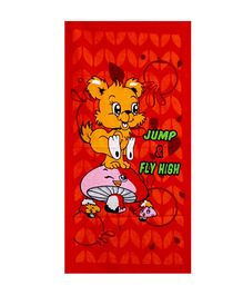 Sassoon Towel Animal Design - Red Pink Yellow