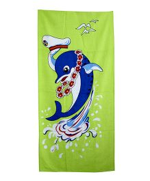 Sassoon Towel Dolphin Design - Blue Green