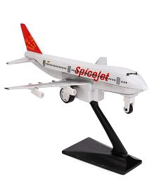 Speedage Jumbo 747 Air Plane With Stand Spicejet (Color May Vary)