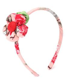 De Berry Attractive Flower Hair Band - Red & White