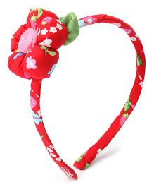 De Berry Attractive Flower Hair Band - Red