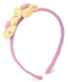 De Berry Stylish Flowers Hair Band - Pink