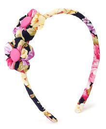 De Berry Floral Print Hair Band - Pink