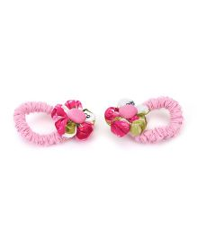 De Berry Floral Print Rubber Band - Pink