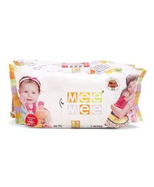 Mee Mee Caring Baby Wet Wipes Pack Of 3 - 80 Pieces