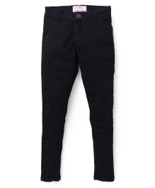 Palm Tree Full Length Jeans - Black