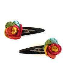 Tiny Closet Rose Snap Clips - Multi Color