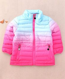 One Friday Girls Tie Dye Padded Jacket For Girls - Pink