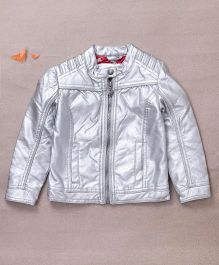 One Friday Front Open Jacket - Silver