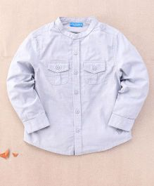 One Friday Double Pocket Full Sleeve Shirt - Grey
