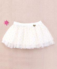 One Friday Glitter Skirt - White