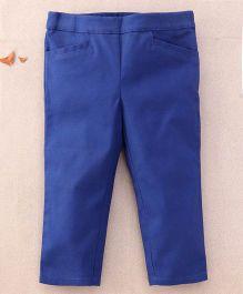 One Friday Cotton Popline Smart Trouser - Navy Blue