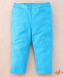 One Friday Cotton Popline Smart Trouser - Teal Blue
