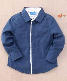 One Friday Plain Formal Smart Shirt - Blue