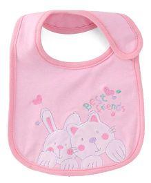 Mee Mee Baby Bib Best Friends Print - Pink