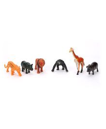 Playmate Wild Animals Set Multicolor 8.5 cm - 6 Pieces