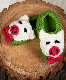 The Original Knit Teddy Booties - Green