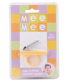 Mee Mee Nail Clipper With Tiny Handle - Yellow