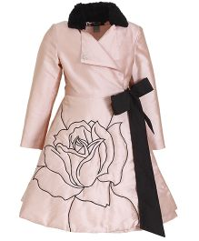 Kidology Russian Rose Wrap Dress - Blush