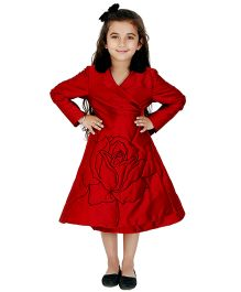 Kidology Russian Rose Wrap Dress - Red