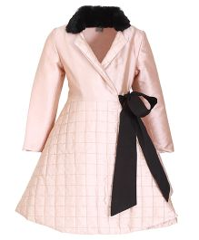 Kidology Quilted Grid Wrap Dress - Blush