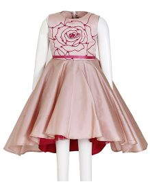 Kidology Russian Rose Flare Dress - Blush Pink