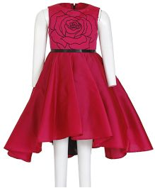 Kidology Russian Rose Flare Dress - Fuchsia Pink