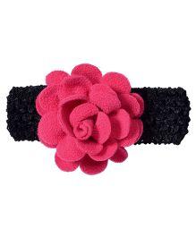 Miss Diva Elegant Polar Fleece Warm Look Flower Soft Headband - Pink