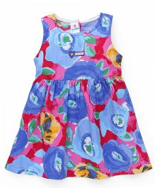 Child World Sleeveless Printed Frock - Multicolor