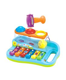 Toyhouse Enlighten Xylophone With 3 Color Balls And Small Hammer Toy - Multicolor