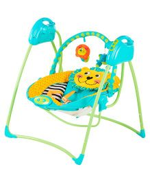 Toyhouse 2 In 1 Folding Electronic Swing - Yellow Blue