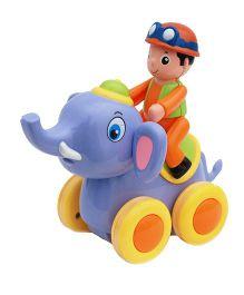 Toyhouse Friction Power Lovely Elephant Swing Animal Show - Blue