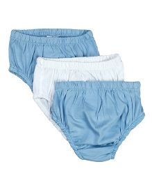 Beebay Briefs Pack of 3 - Sky Blue White