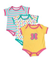 Beebay Short Sleeves Onesies Pack of 3 - Yellow White Green